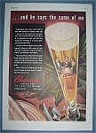 Click here to enlarge image and see more about item 12035: Vintage Ad: 1941 Budweiser Beer