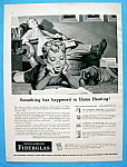 1952 Owens Corning Fiberglas Insulation w/Boy on Floor