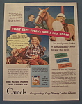 Click here to enlarge image and see more about item 12084: Vintage Ad: 1940 Camel Cigarettes w/ Peggy McManus