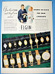 Click here to enlarge image and see more about item 12086: Vintage Ad: 1937 Elgin Watches