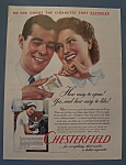 Vintage Ad: 1940 Chesterfield Cigarettes
