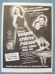 Vintage Ad: 1940 Movie Ad For Spring Parade