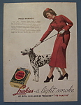 1936 Lucky Strike Cigarettes w/Woman Walking Dalmatian