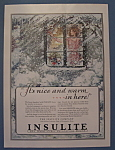 Click here to enlarge image and see more about item 12117: Vintage Ad: 1929 Insulite Company