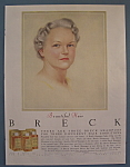 Click to view larger image of 1956 Breck Shampoo with Lovely Gray Haired Woman (Image1)