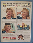 Click here to enlarge image and see more about item 12152: Vintage Ad: 1942 Quaker Oats