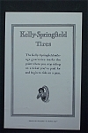 1917 Kelly-Springfield Tires with Woman Inside a Tire