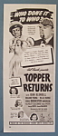 Vintage Ad: 1941 Movie Ad For Topper Returns