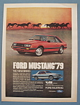 Vintage Ad: 1979 Ford Mustang