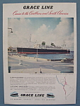 Click here to enlarge image and see more about item 12198: Vintage Ad: 1948 Grace Line