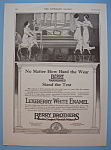 Click here to enlarge image and see more about item 12205: Vintage Ad: 1914 Luxeberry White Enamel