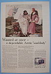 1931 P & G White Naptha Soap with Woman Hanging Laundry