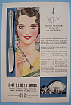 Click here to enlarge image and see more about item 12228: Vintage Ad: 1932 1847 Rogers Bros. Silverplate