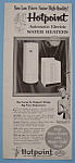Click to view larger image of Vintage Ad: 1955 Hotpoint Water Heater w/ Ricky Nelson (Image1)