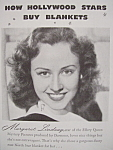 Vintage Ad: 1941 North Star Blanket w/Margaret Lindsay