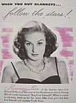 Vintage Ad: 1941 North Star Blanket w/Rosemary Lane