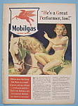 Click here to enlarge image and see more about item 12296: Vintage Ad: 1940 Mobilgas By McClelland Barclay