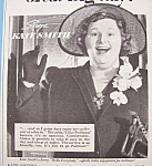 Click here to enlarge image and see more about item 12300: Vintage Ad: 1940 Pullman w/ Kate Smith