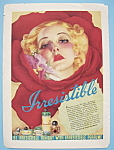 1938 Irresistible Perfume with Lovely Woman's Face