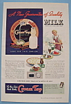 Click here to enlarge image and see more about item 12312: Vintage Ad: 1938 Cream Top Milk Bottles