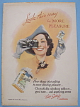 1938 Chesterfield Cigarettes w/Woman Looking in Camera