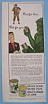 Click here to enlarge image and see more about item 12327: Vintage Ad: 1943 Green Giant Niblets & Peas