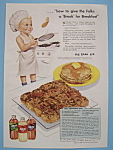 Click here to enlarge image and see more about item 12336: Vintage Ad: 1948 Karo Syrup with The Karo Kid