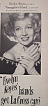 Click here to enlarge image and see more about item 12346: Vintage Ad: 1951 La Cross w/ Evelyn Keyes