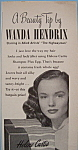 Click here to enlarge image and see more about item 12348: Vintage Ad: 1951 Helene Curtis Shampoo w/Wanda Hendrix