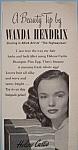 Click to view larger image of Vintage Ad: 1951 Helene Curtis Shampoo w/Wanda Hendrix (Image1)