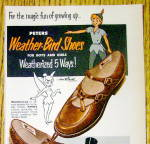 Click to view larger image of Vintage Ad: 1953 Peters Weather Bird Shoes w/ Peter Pan (Image2)
