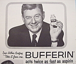 Click here to enlarge image and see more about item 12368: Vintage Ad: 1955 Bufferin Aspirin w/ Arthur Godfrey