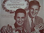 1947 Chesterfield Cigarettes with Williams & Musial
