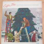 Click to view larger image of 1948 Maxwell House Coffee with Men Decorating Tree (Image2)