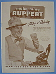 1946 Ruppert Beer with Man Holding Glass