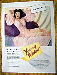 Vintage Ad: 1946 Young Widow with Jane Russell