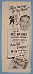 Click here to enlarge image and see more about item 12390: Vintage Ad: 1946 Old Gold Cigarettes w/ Red Barber