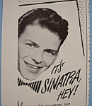 Click here to enlarge image and see more about item 12395: Vintage Ad: 1946 Old Gold Cigarettes w/ Frank Sinatra
