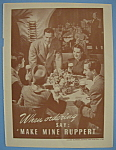 1946 Ruppert Beer with People Around a Table