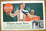 1939 Coca-Cola (Coke) with Man Holding 2 Bottles