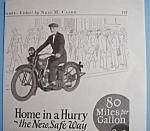 1926 Harley-Davidson Single Motorcycle with Man