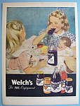 Click here to enlarge image and see more about item 12435: Vintage Ad: 1947 Welch's Grape Juice