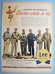 Click here to enlarge image and see more about item 12439: Vintage Ad: 1945 Lee Work Clothes