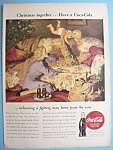 1945 Coca-Cola (Coke) with Soldier Playing with Baby