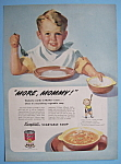 Click here to enlarge image and see more about item 12446: Vintage Ad: 1945 Campbell's Vegetable Soup