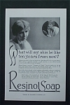 1917 Resinol Soap with Woman Looking in Mirror