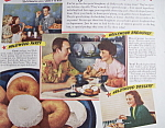 Click here to enlarge image and see more about item 12453: Vintage Ad: 1938 Doughnuts w/ P. O'Brien & M. Lindsay