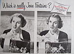 Click here to enlarge image and see more about item 12456: Vintage Ad: 1949 Auto-Lite Spark Plugs w/ Joan Fontaine