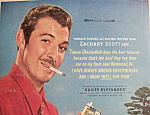 Click to view larger image of Vintage Ad:1950 Chesterfield Cigarette w/Zachary Scott (Image1)