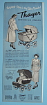 Click here to enlarge image and see more about item 12458: Vintage Ad: 1950 Thayer Carriages & Strollers